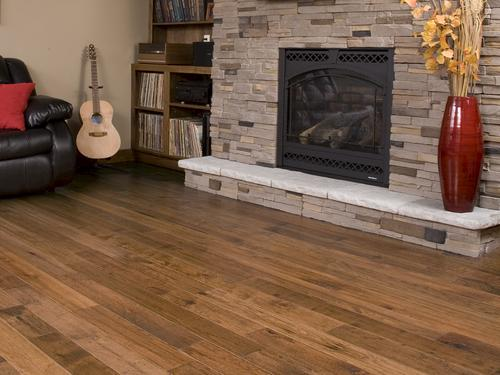 Handscraped Antique Hickory Engineered Hardwood Flooring 3/8