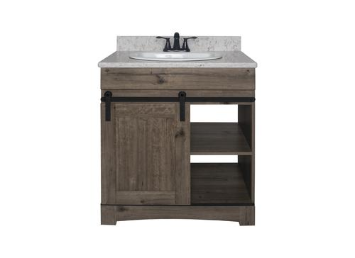 Dakota Sliding Barn Door 30 W X 21 D Cottage Bathroom Vanity Cabinet