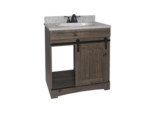 Superb Dakota Sliding Barn Door Vanity At Menards Interior Design Ideas Tzicisoteloinfo