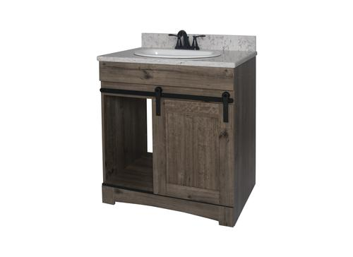 Dakota Sliding Barn Door Vanity At Menards