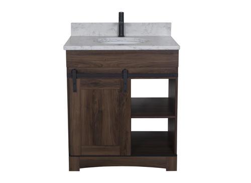Dakota 30 W X 21 D Sliding Barn Door Bathroom Vanity Cabinet At