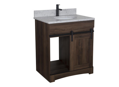 Wondrous Dakota 30W X 21D Sliding Barn Door Bathroom Vanity Beatyapartments Chair Design Images Beatyapartmentscom