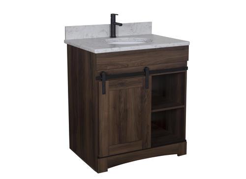 """Dakota™ 30""""W x 21""""D Sliding Barn Door Bathroom Vanity ..."""