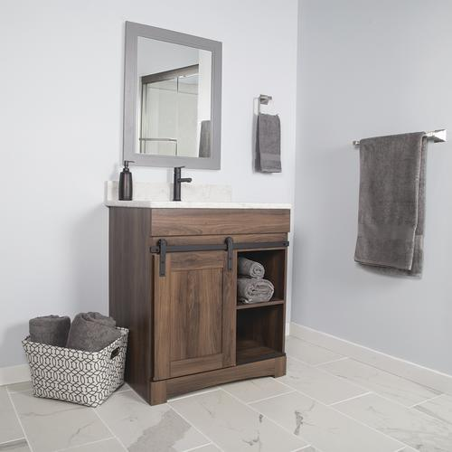 "Dakota™ 30""W x 21""D Sliding Barn Door Bathroom Vanity ..."