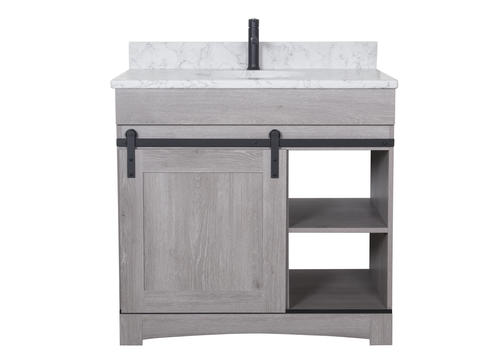 "Dakota™ 36""W x 21""D Sliding Barn Door Bathroom Vanity ..."