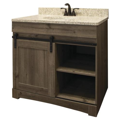 Dakota Sliding Barn Door 36 W X 21 D Cottage Bathroom Vanity Cabinet