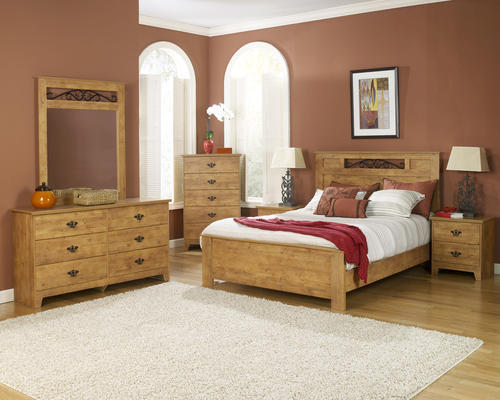 pine bedroom set.  Dakota King Knotty Pine Bedroom Suite at Menards