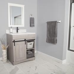 """Dakota™ 30""""W x 21-3/4""""D Sliding Barn Door Bathroom Vanity ..."""