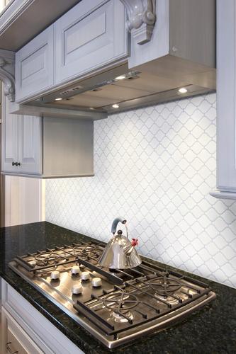 Mohawk 174 Glasen Stone Arabesque 12 X 10 Porcelain Mosaic