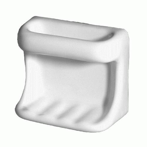 Mohawk Bath Accessories 6 1 2 X 5 7 8 X 3 1 16 Ceramic Soap Dish With Wash Cloth Holder At Menards