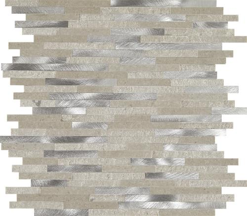 Mohawk Grand Terrace Santa Clara Random Strip 12 X 13 Metal And Stone Mosaic Tile