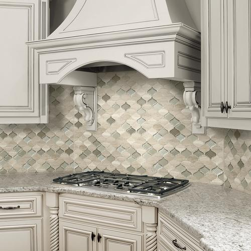 Arabesque Tiles Kitchen Wall: Mohawk® Grand Terrace Arabesque 13 X 14 Glass And Stone