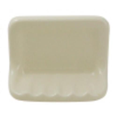 Bathroom Accessories White 4-3//4 in x 6-3//8 in Wall Mount Ceramic Soap Dish