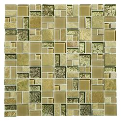 Mohawk 174 Phase Random Block 12 X 12 Stone And Glass Wall