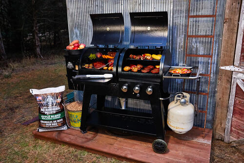 Pit Boss® 1230 Wood Pellet and Gas Grill Combo at Menards®