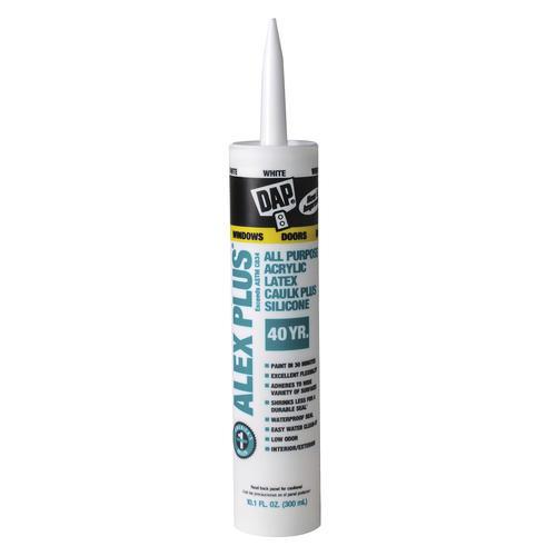 DAP® ALEX PLUS® Acrylic Latex Caulk Plus Silicone - 10 1 oz