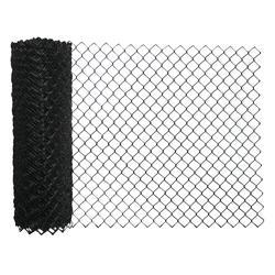 50 Black Vinyl Coated 9 Gauge Chain Link Fence Fabric