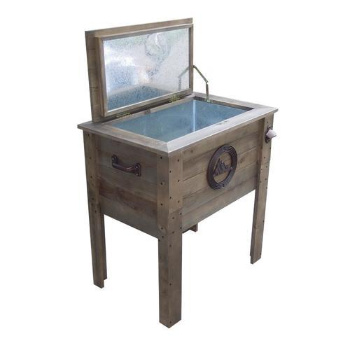 Backyard Creations™ 57 Qt. Rustic Wooden Patio Cooler At Menards®