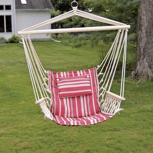 Backyard Creations® Hanging Hammock Chair With Pillow   Assorted Colors At  Menards®