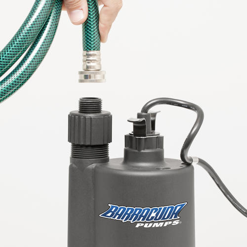 Barracuda® 1/4 HP Thermoplastic Submersible Utility Pump at