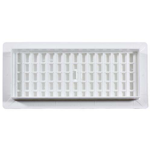 Decor Grates® Plastic Floor Register White at Menards®