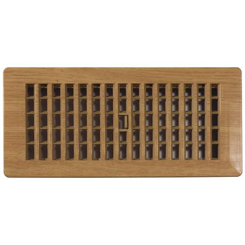 Decor Grates® Plastic Floor Register Oak Caramel at Menards®