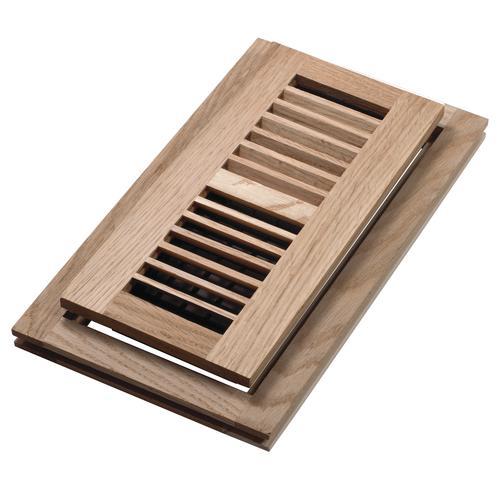 Decor Grates® Flushmount Floor Register Unfinished Oak at