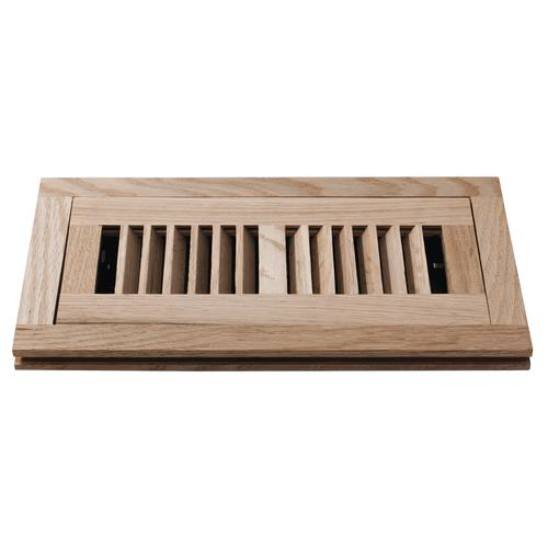 Decor Grates® Flushmount Floor Register Unfinished Oak at