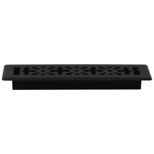 Decor Grates AGH212-BLK 2-Inch by 12-Inch Gothic Black Steel Floor Register