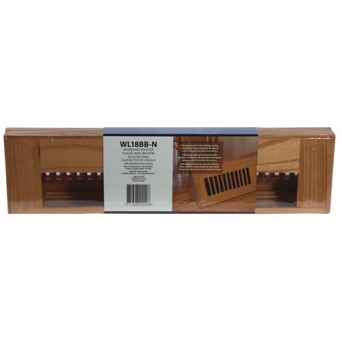 Decor Grates® Louvered Baseboard Register Vintage Natural