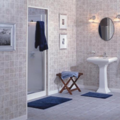 Tiled wall boards bathrooms
