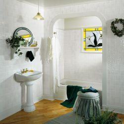 DPI™ AquaTile 4 x 8 Toned White Bath Tileboard Wall Panel ...