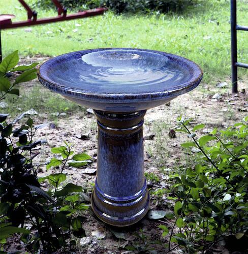 Enchanted Garden Ceramic Bird Bath