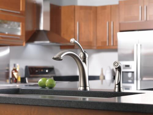 Delta Lewiston Kitchen Faucet: Delta® Lewiston® One-Handle Stainless Kitchen Faucet At