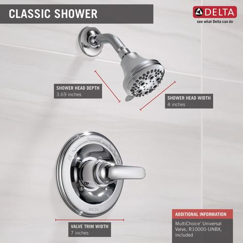 Delta Shower Valve.Delta Classic One Handle 1 Spray Shower Faucet In Chrome At Menards