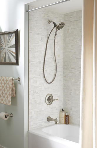 Delta 174 Carlisle One Handle 4 Spray Tub And Shower Faucet