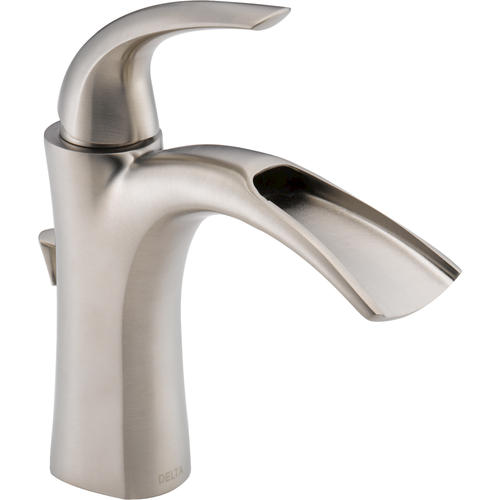 Delta® Nyla™ One-Handle Open Channel Bathroom Faucet in Brushed Nickel
