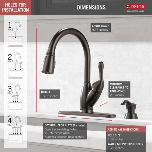 Delta® Izak® One-Handle Pull-Down Kitchen Faucet at Menards®