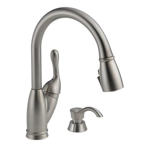Menards Delta Kitchen Faucets.Delta Izak One Handle Pull Down Kitchen Faucet At Menards