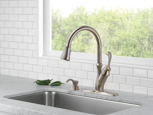 Delta 174 Arabella One Handle Pull Down Kitchen Faucet At