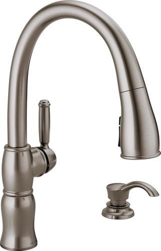 Peerless P299305LF at J & J Wholesale Wall Mount Kitchen Faucets jjplumbingnc.com Peerless Faucets Kitchen faucets Wall mount v1345.h