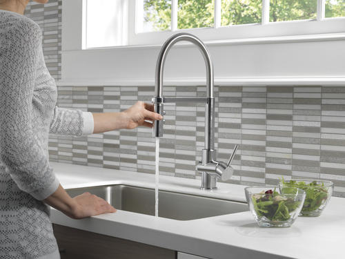 Delta® Felix™ One-Handle Pull-Down Arctic Stainless
