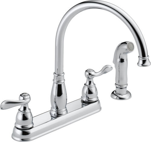 Delta Windemere Two Handle Chrome Kitchen Faucet At Menards