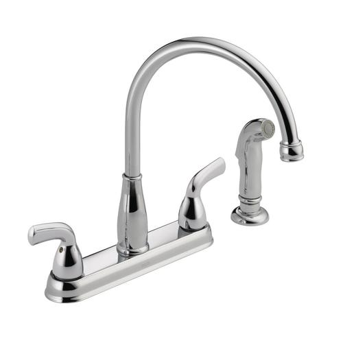 Delta Foundations Two Handle Kitchen Faucet At Menards