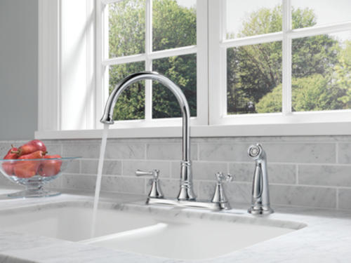 Delta® Cassidy™ Two-Handle Kitchen Faucet at Menards®