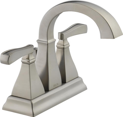 "Delta® Lakewood™ Two-Handle 4"" Centerset Bathroom Faucet in SpotShield® Brushed"