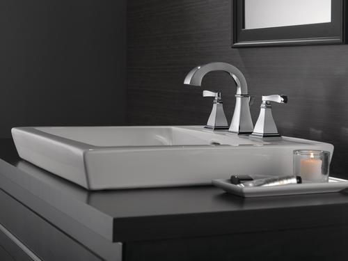 """Delta Faucet B3596lf Windemere Polished Chrome Two Handle: Delta® Lakewood™ Two-Handle 8"""" Widespread Bathroom Faucet"""
