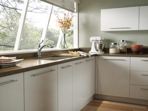 Delta® Linden™ One Handle Pull Out Kitchen Faucet At Menards®