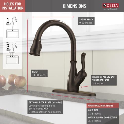 Delta Leland One Handle Pull Down Kitchen Faucet At Menards