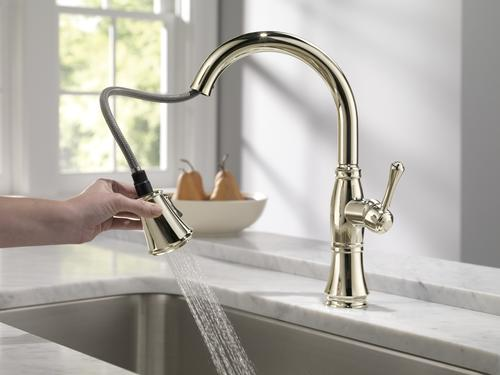 Delta® Cassidy™ One-Handle Pull-Down Kitchen Faucet at Menards®